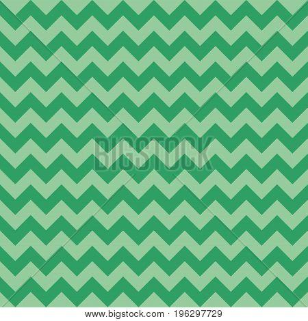Seamless chevron pattern green color. Vector illustration