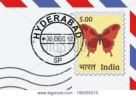 Hyderabad Postage Stamp