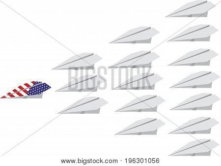 White aerial fleet an American plane White aerial fleet an American plane