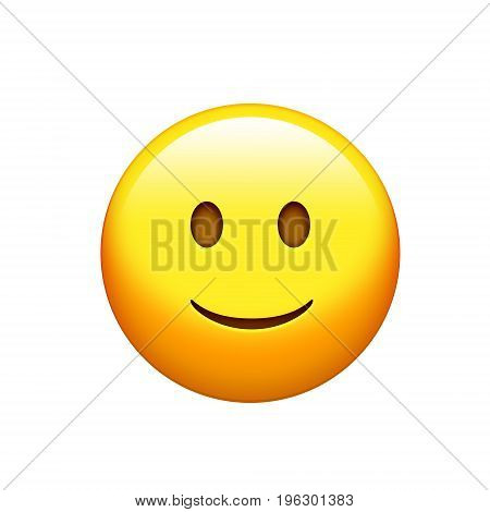Isolated Yellow Delightful Smiley Dazzler Face Icon