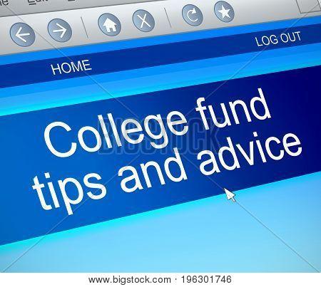 College Fund Concept.