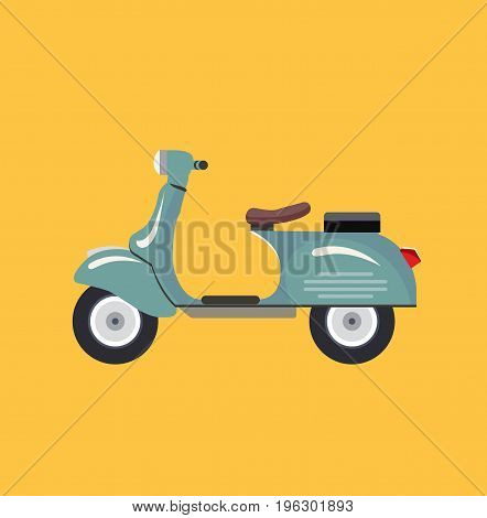 Italian scooter vintage. Retro scooter. Vector stock.