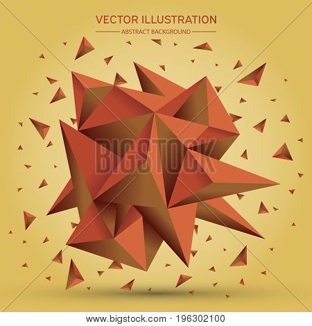 3D Low Polygon Geometry Background. Abstract Polygonal Geometric Shape. Lowpoly Minimal Style Art. T