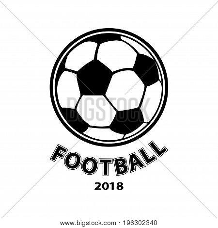Football logo, ball icon, isolated on white background. Vector illustration