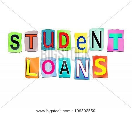 Student Loans Concept.