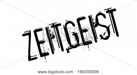 Zeitgeist rubber stamp. Grunge design with dust scratches. Effects can be easily removed for a clean, crisp look. Color is easily changed.