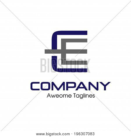 CE letter Business design template logo icon, luxury concept CE letter Business design template logo icon