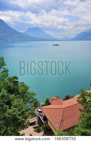 Landscape The Lake Luzerne, Switzerland