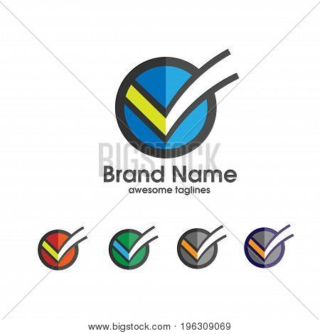 check mark vector icon,modern and flat design o circle check mark vector icon