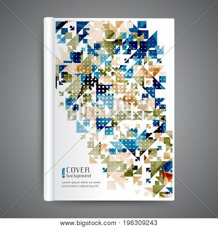 Abstract template book cover with geometric elements
