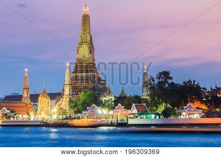 Thailand, Bangkok.Wat Arun Temple at sunset in Bangkok.