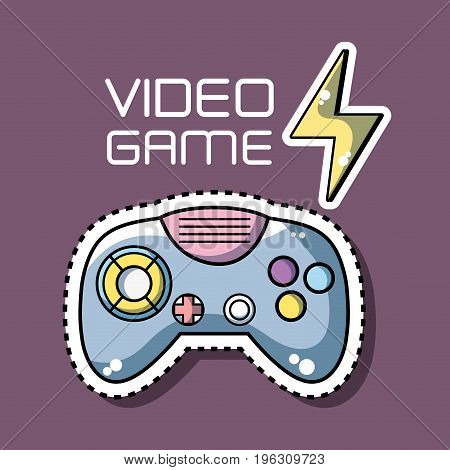 videogame console simulator with energy symbol vector illustration
