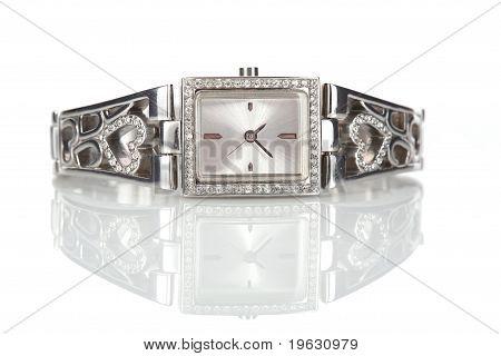Female Silver Wrist Watch