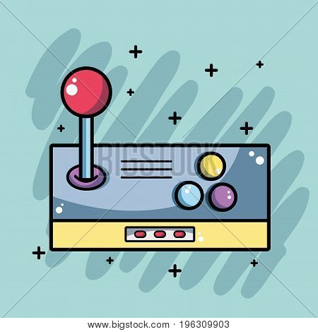 technology videogame simulator console to game vector illustration