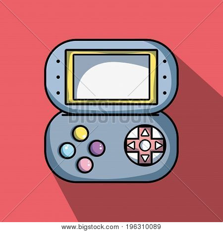 videogame digital console to simulator technology vector illustration