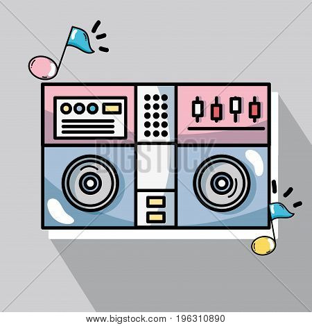 stereo electronic instrument to play and listen to music vector illustration