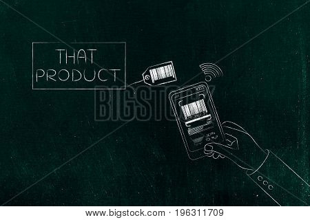 Smartphone User Scanning Product Bar Code