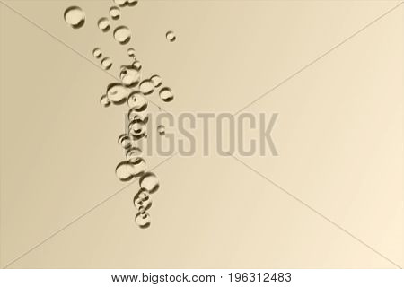Pouring Wine With A Group Of Bubbles 3D Illustration