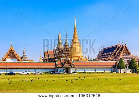 Bangkok Thailand. Wat Phra Kaeo. Thailand's holiest temple.