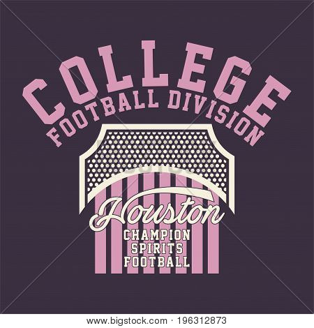 graphic design COLLEGE FOOTBALL DIVISION for shirt and print