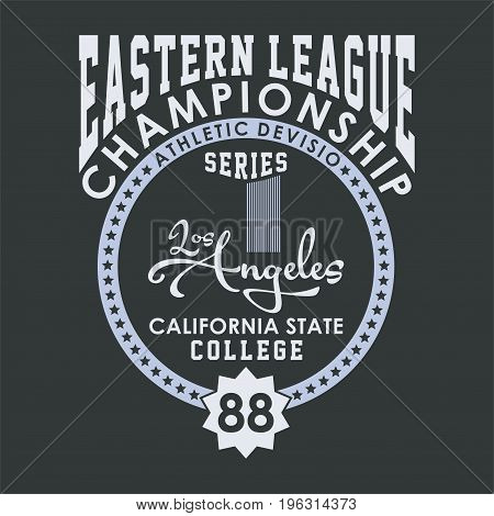 graphic design eastern league, championship for shirt and print