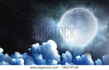Sweet night dream. Mixed media