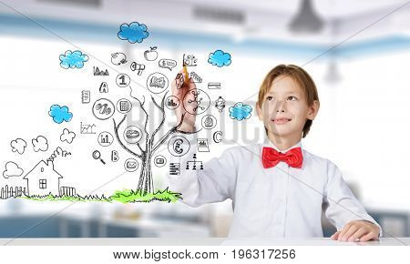 Handsome genius kid