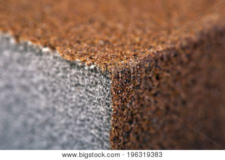 Sandpaper / Abrasive Sponge. Close-Up. Macro. Texture Background Series