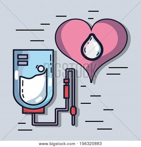 blood donation transfusion with special equipment vector illustration