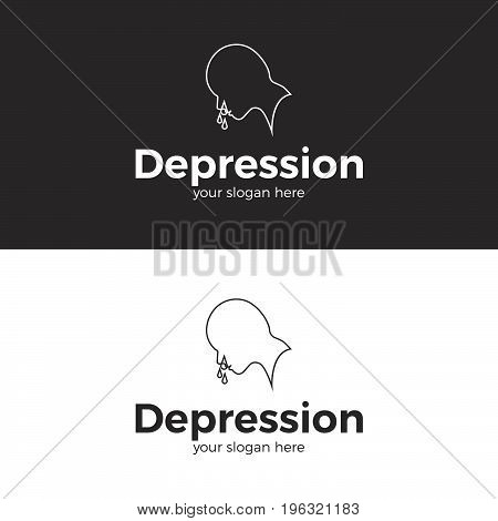 Depression Logo. Logo template for your business