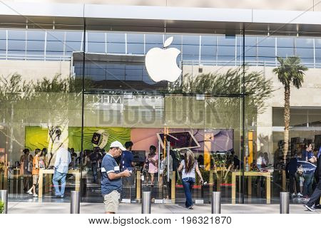 Las Vegas - Circa July 2017: Apple Store Retail Mall Location. Apple sells and services iPhones iPads iMacs and Macintosh computers II