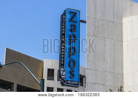 Las Vegas - Circa July 2017: Zappos.com is an online shoe and clothing shop. Amazon.com acquired Zappos in 2009 I