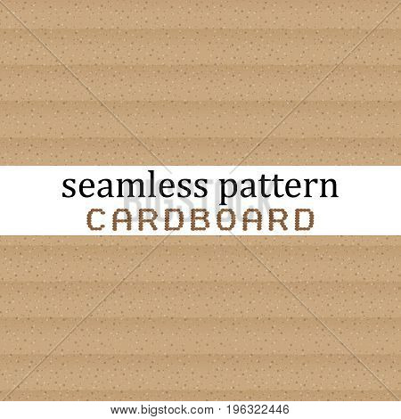 seamless pattern with cardboard texture in realistic style