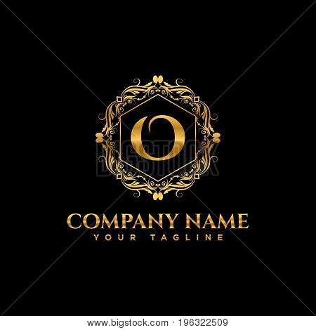 Luxury logo. Calligraphic pattern elegant decor elements. Vintage vector ornament Signs and Symbols. The Letters O. luxury logo template. EPS8,EPS10