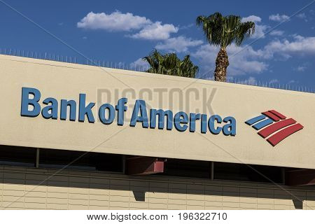 Las Vegas - Circa July 2017: Bank of America Bank and Loan Branch. Bank of America is a Banking and Financial Services Corporation VII
