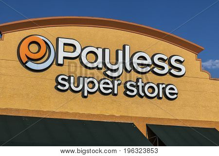 Las Vegas - Circa July 2017: Payless ShoeSource Retail Strip Mall Location. Payless ShoeSource sells shoes at a discount and is privately held by Blum Capital III