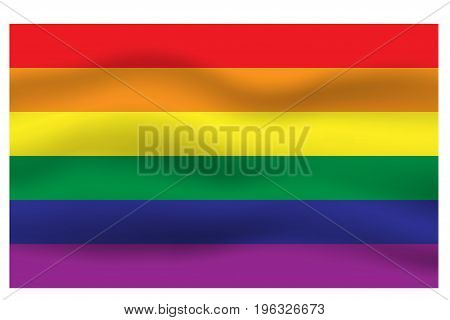 Rainbow flag movement background, LGBT pride flag, Horizontal stripes icon, Vector illustration eps10