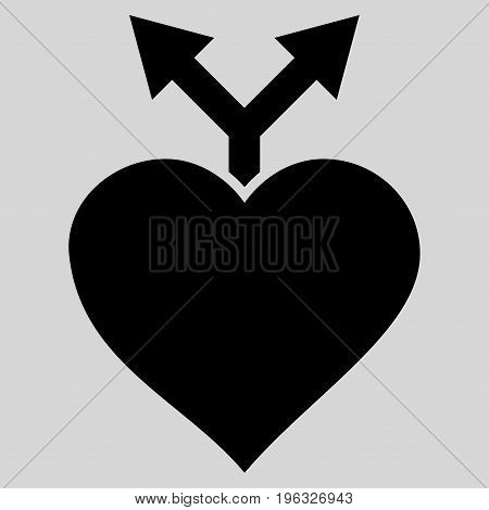 Love Variants flat icon. Vector black symbol. Pictograph is isolated on a light gray background. Trendy flat style illustration for web site design, logo, ads, apps, user interface.