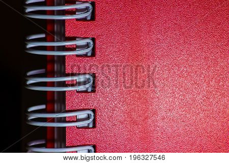 Red Notebook Close-up
