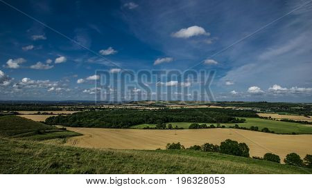 Panoramic view from Clay Hill near Warminster.
