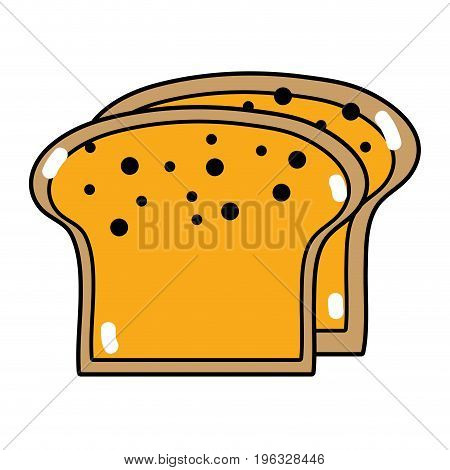 yummy slices breads to eat food vector illustration