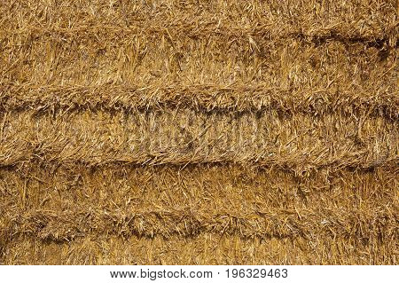 a background image of cut straw in a bale at harvest time