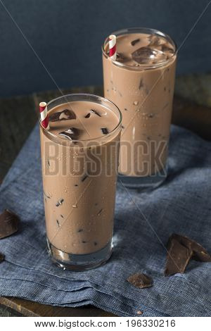 Cold Refreshing Iced Hot Chocolate Milk