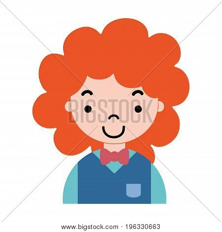 nice boy with hairstyle and uniform clothes vector illustration