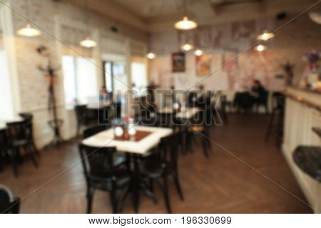 Blurred view of cafe