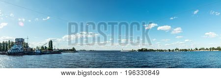 The Water Area In Dnieper River Harbor.