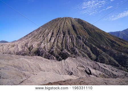 Mount Batok The Volcano Next To Mount Bromo At The Tengger Semeru National Park In East Java, Indone