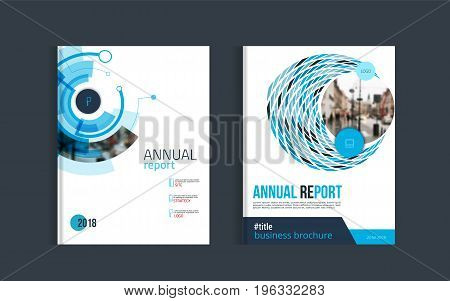 Brochure layout design template for corporate business report