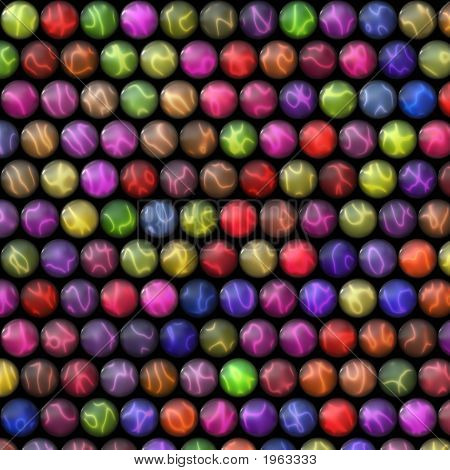 Colorful Balls In Rows