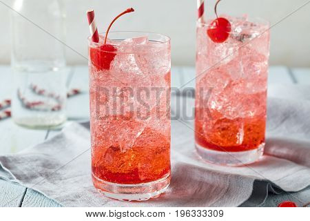 Sweet Refreshing Cherry Cocktail Mocktail